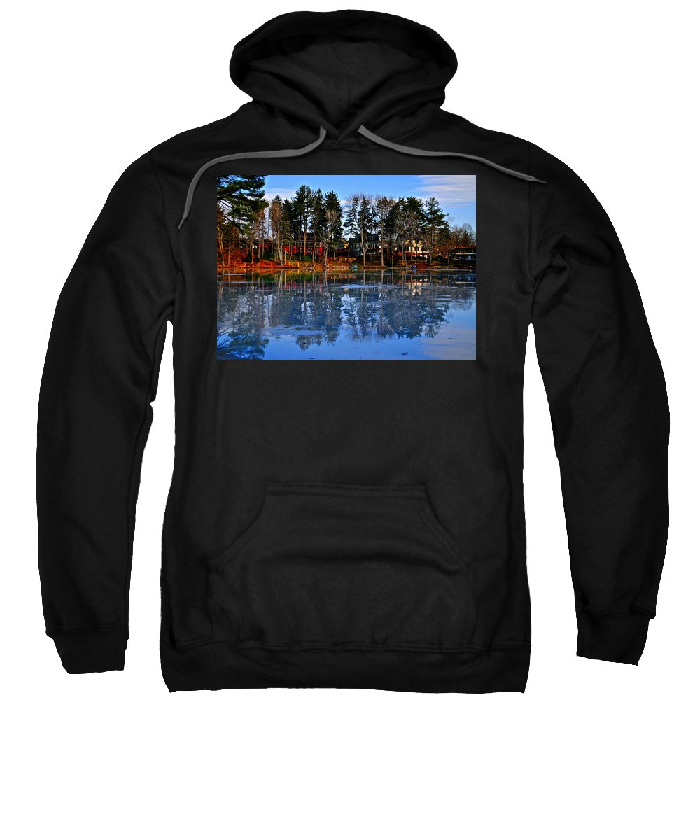Blue Sweatshirt featuring the photograph Blue Ice by Frozen in Time Fine Art Photography