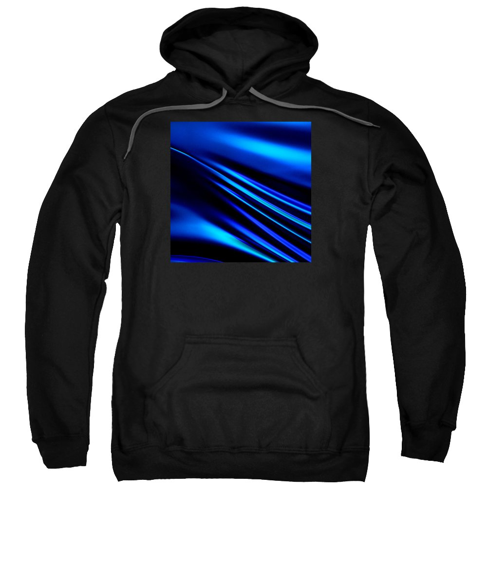 San Francisco Sweatshirt featuring the photograph Blue Light by Art Block Collections