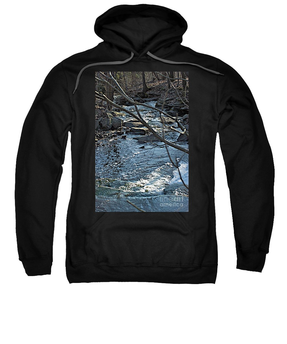 Creek Sweatshirt featuring the photograph Blue Light by Joseph Yarbrough