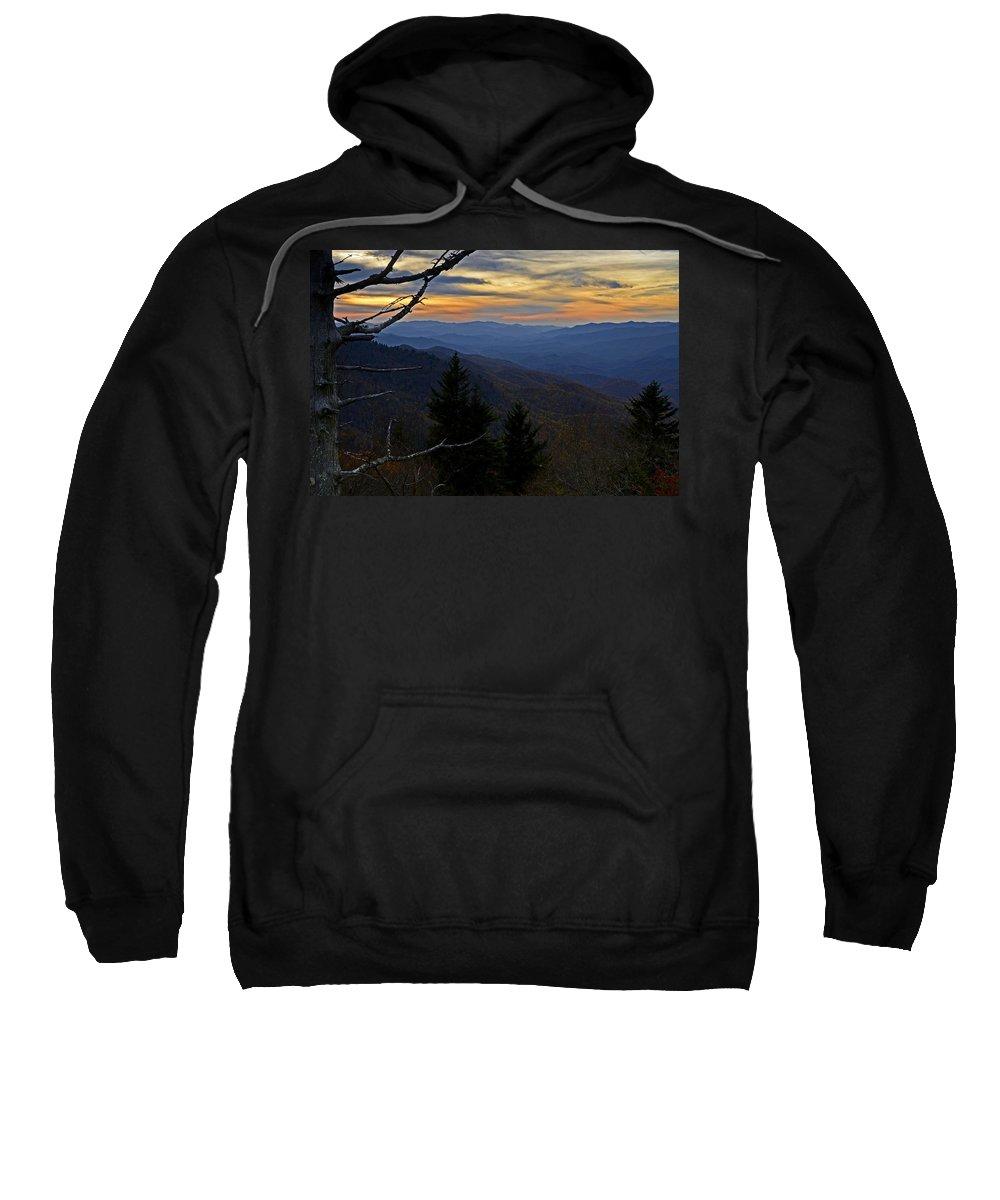 Blue Ridge Parkway Sweatshirt featuring the photograph Blue Ridge Last Light by Eric Albright