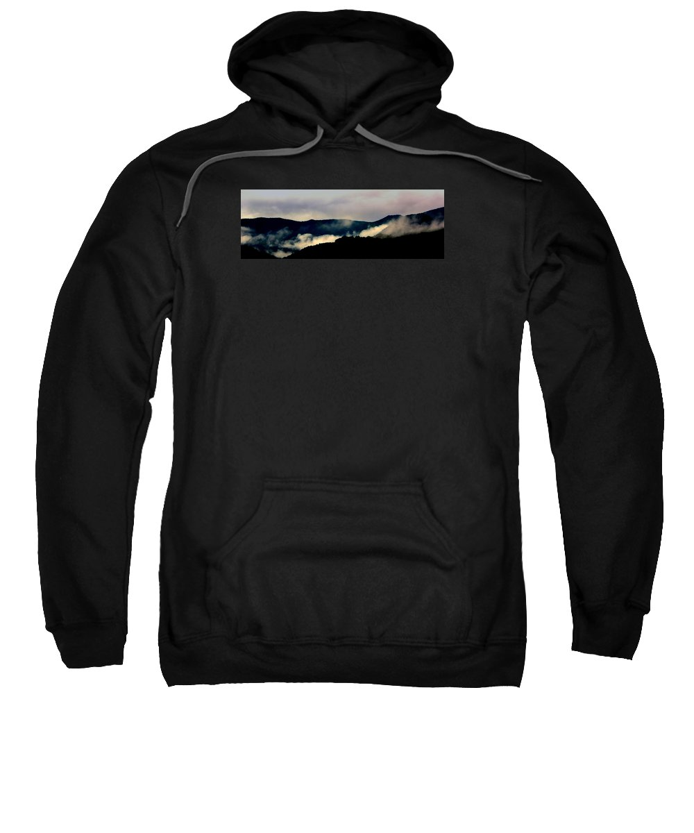 Mountains Sweatshirt featuring the photograph Blue Ridge Parkway Abstract by Kathy Barney