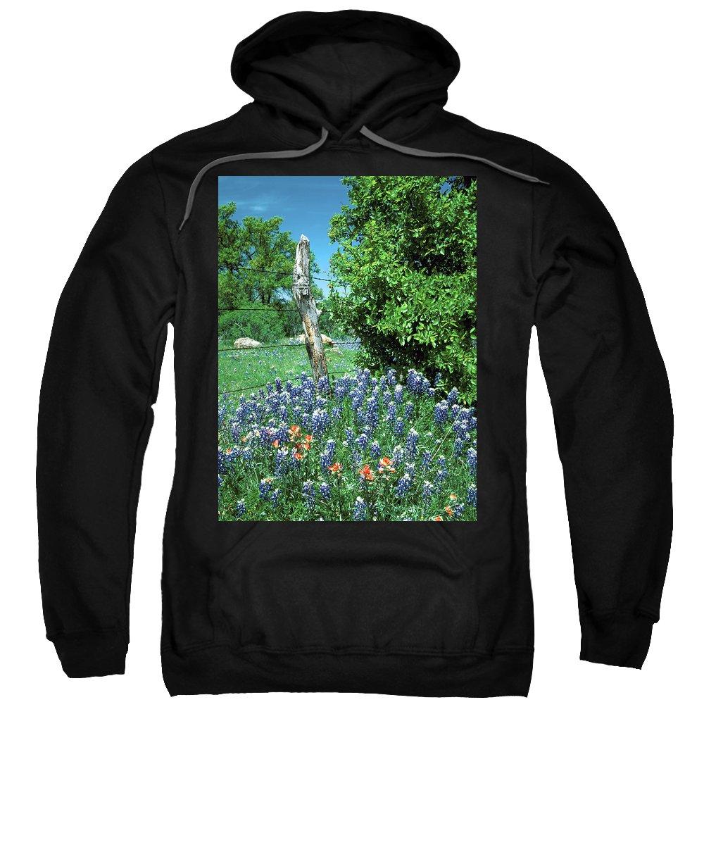 Bluebonnets Sweatshirt featuring the photograph Bluebonnet Scene by Jim Smith