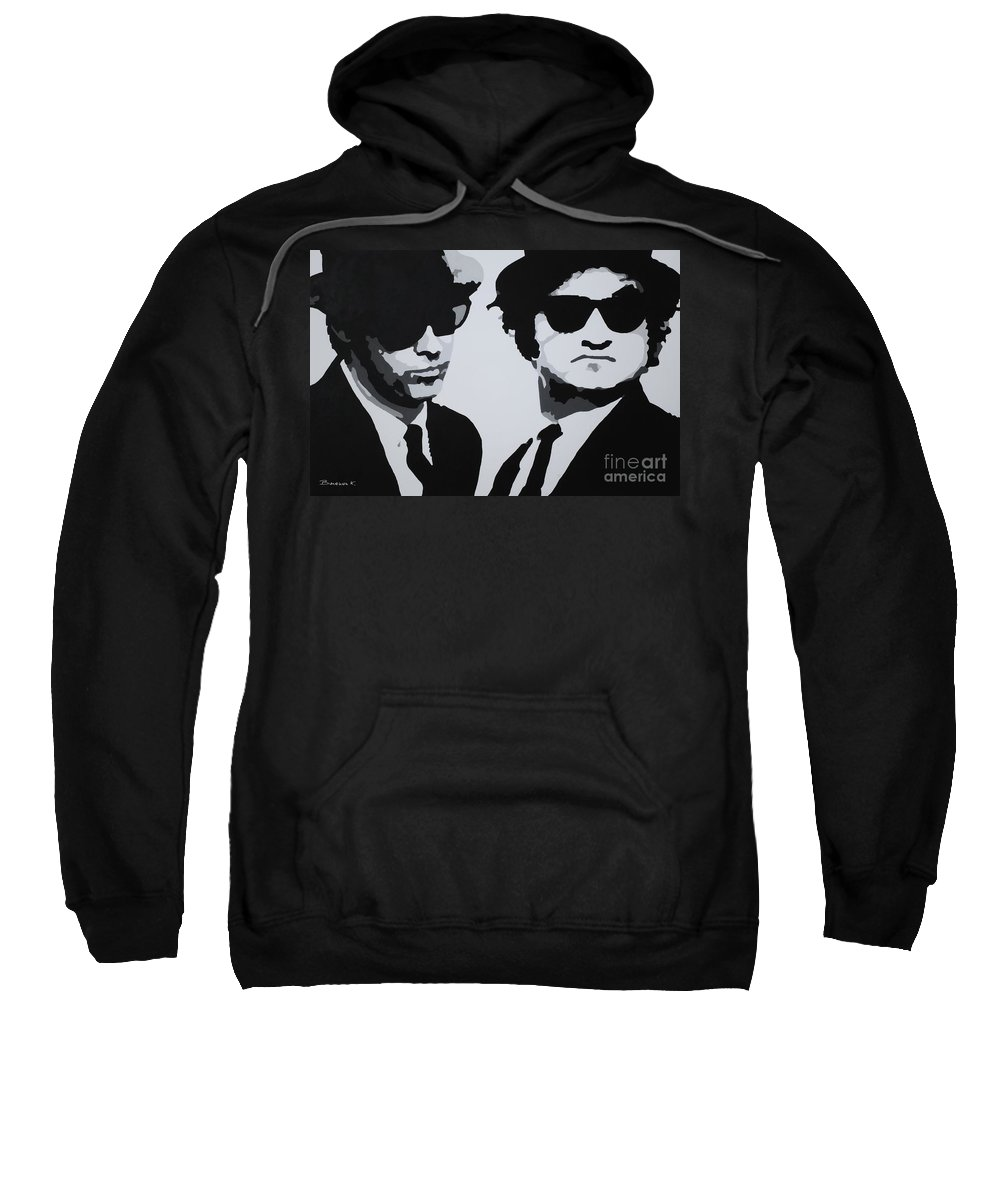 Blues Brothers Sweatshirt featuring the painting Blues Brothers by Katharina Filus