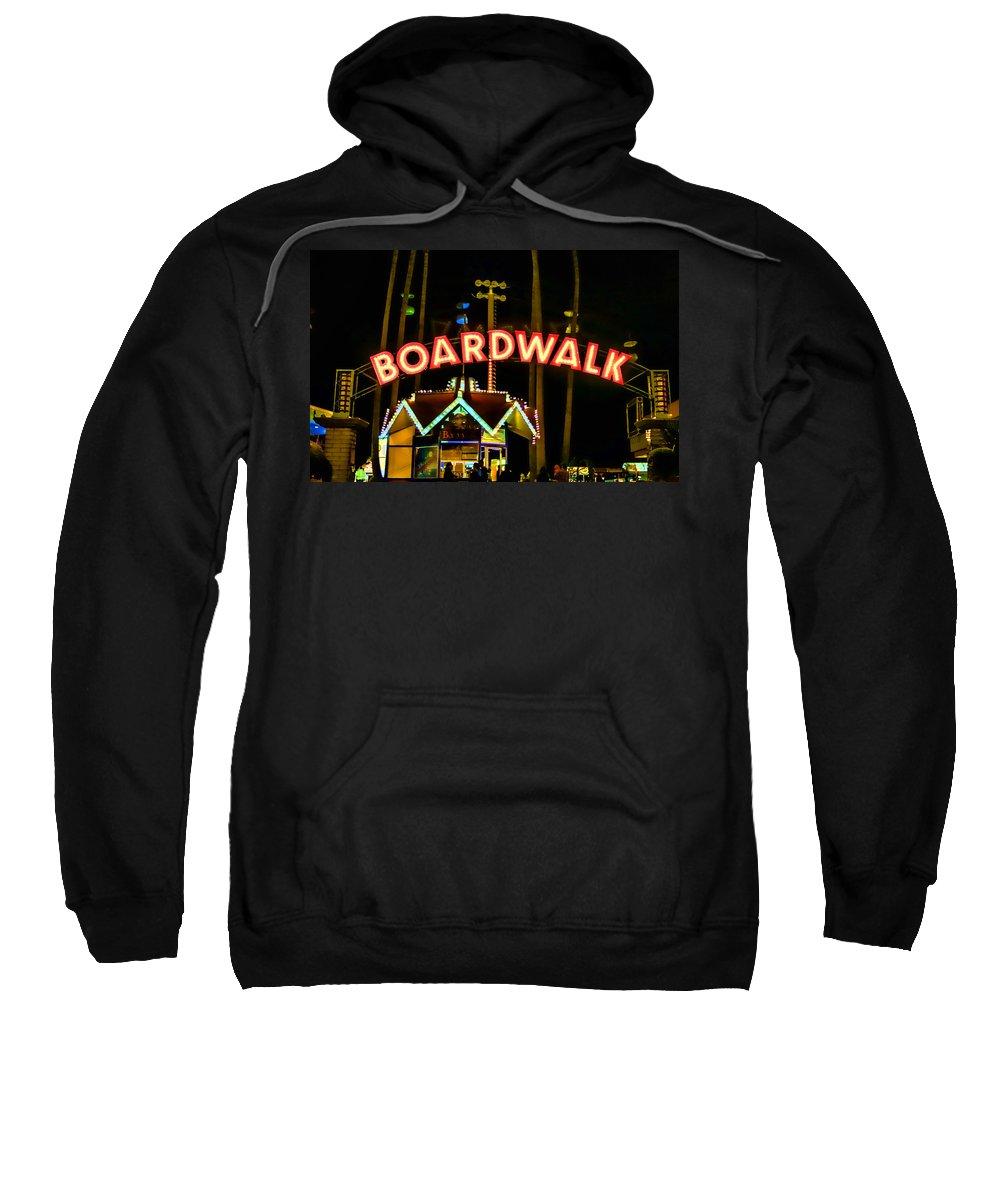 Streets Of Santa Cruz Sweatshirt featuring the photograph Boardwalk by Digital Kulprits