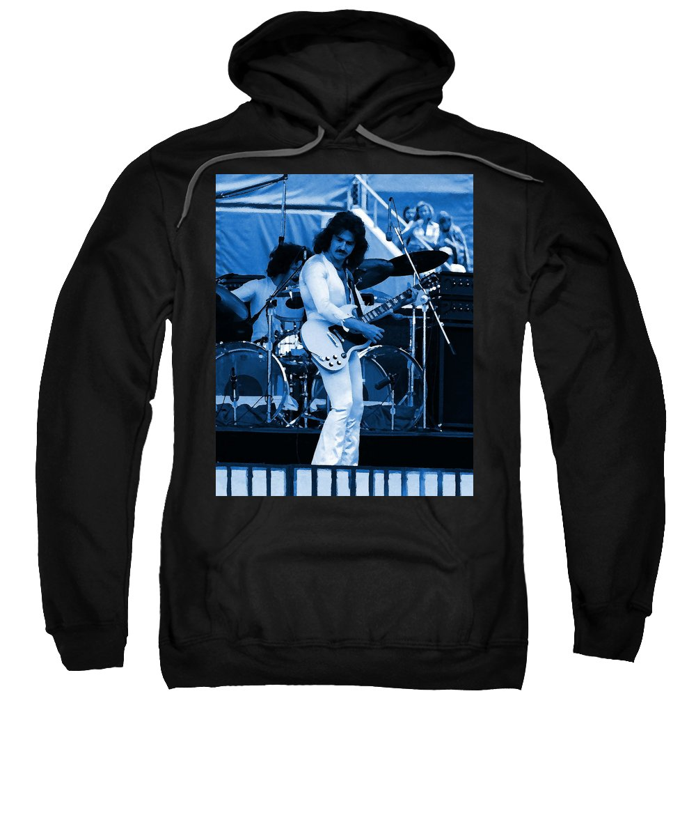 Blue Oyster Cult Sweatshirt featuring the photograph Boc #10 Enhanced In Blue by Ben Upham