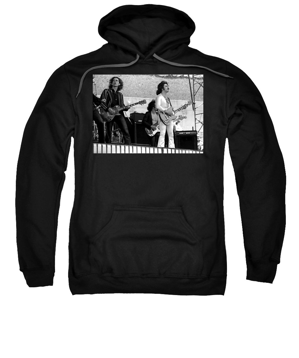 Blue Oyster Cult Sweatshirt featuring the photograph Boc #61 Enhanced Bw by Ben Upham