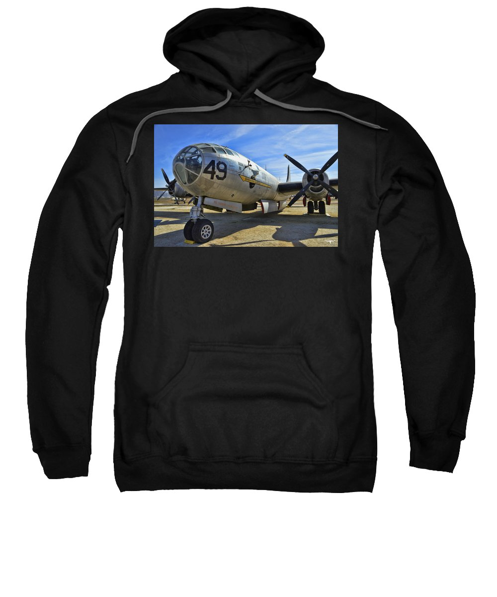 Boeing B-29a Superfortress Sweatshirt featuring the photograph Boeing B-29a Superfortress by Tommy Anderson
