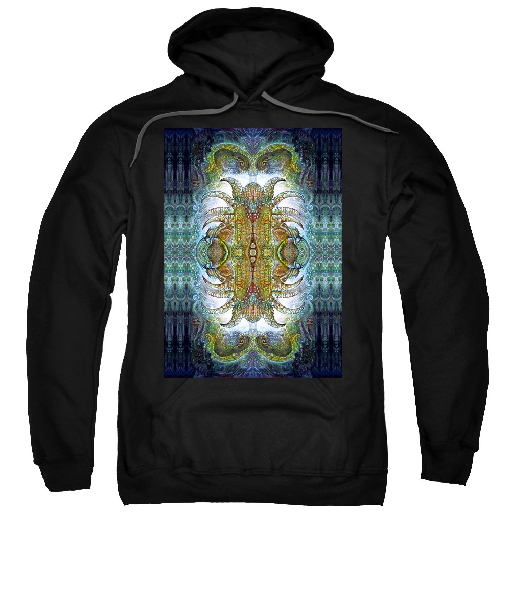 bogomil Variations Sweatshirt featuring the digital art Bogomil Variation 14 - Otto Rapp And Michael Wolik by Otto Rapp
