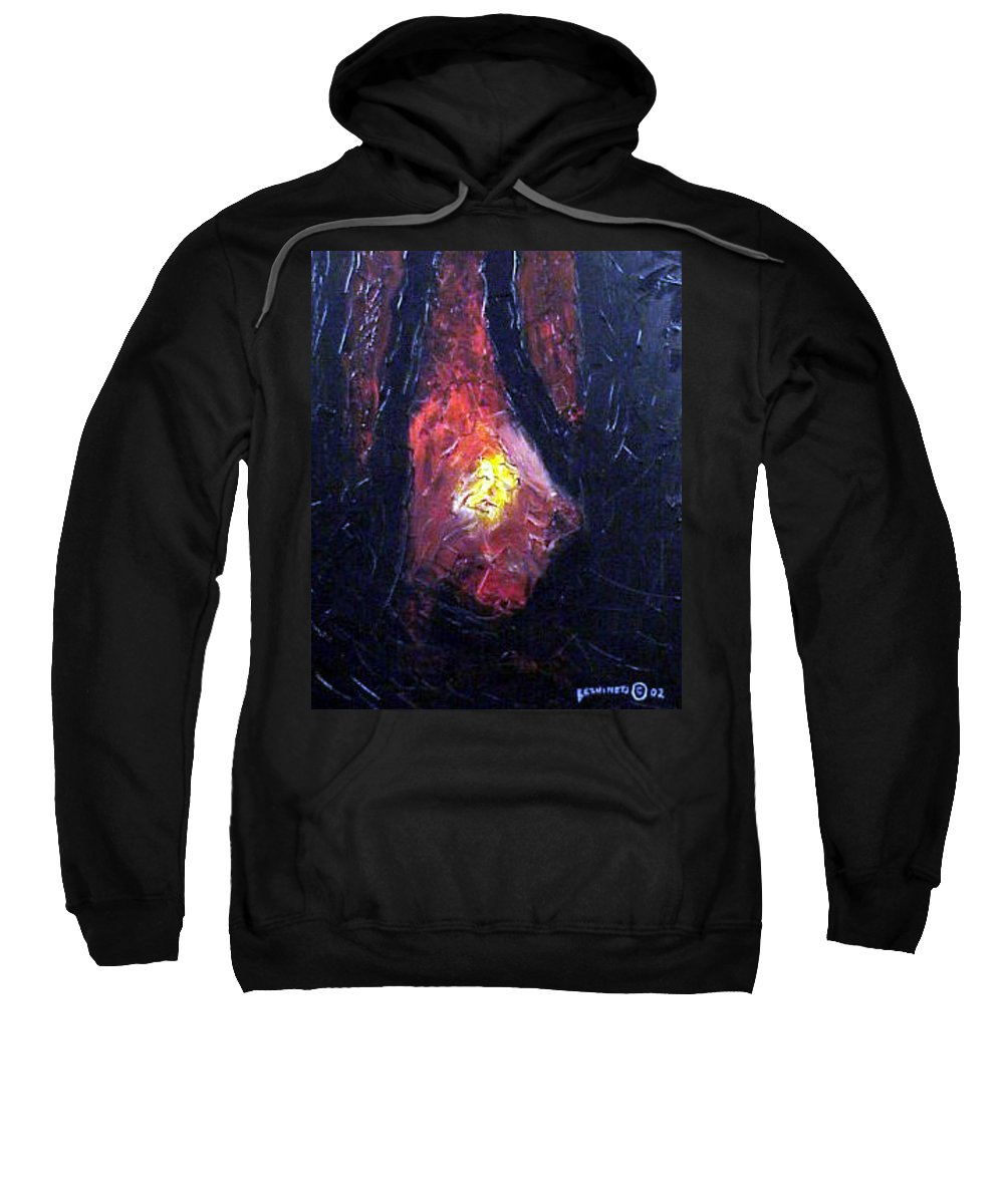 Landscape Sweatshirt featuring the painting Bonefire by Sergey Bezhinets