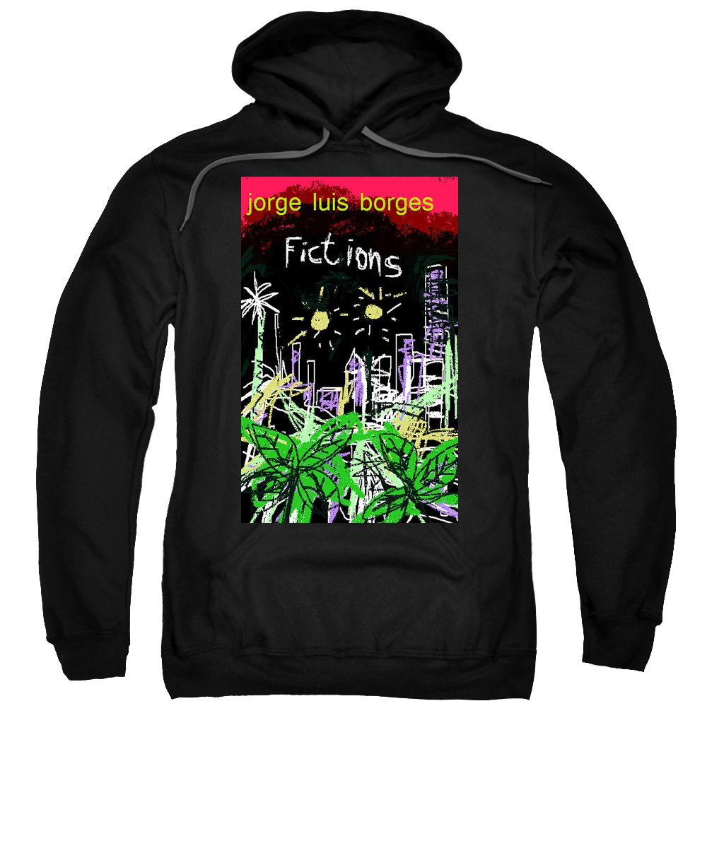 Borges Sweatshirt featuring the digital art Borges Fictions Poster by Paul Sutcliffe