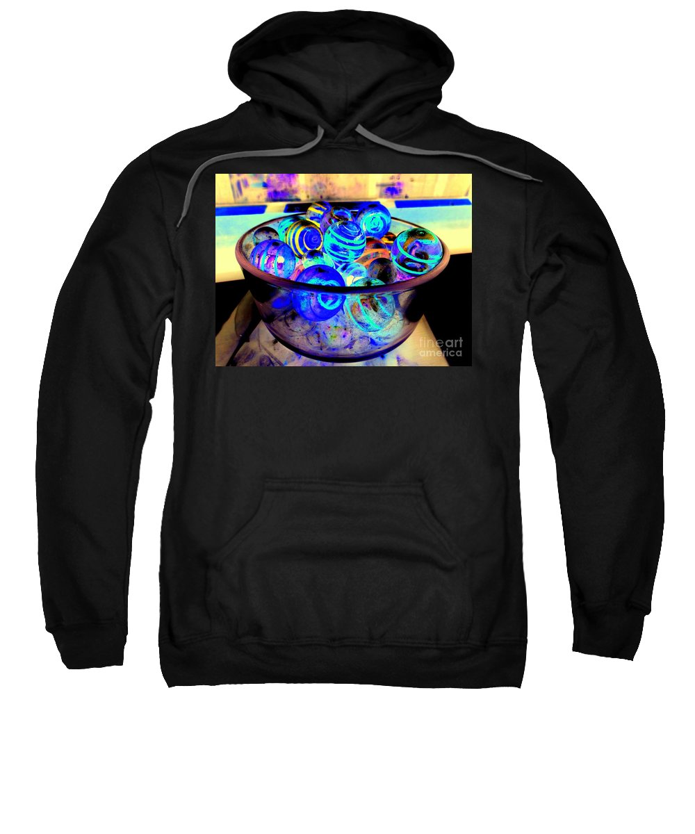 Marbles Sweatshirt featuring the photograph Bowl Of Marbles by Ed Weidman