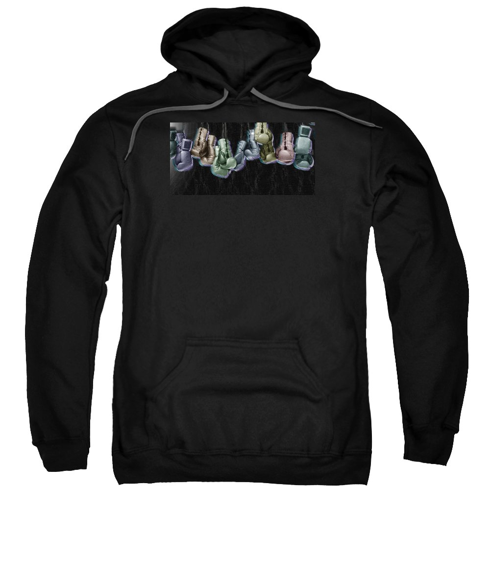 Glove Sweatshirt featuring the painting Boxing Gloves by Tony Rubino