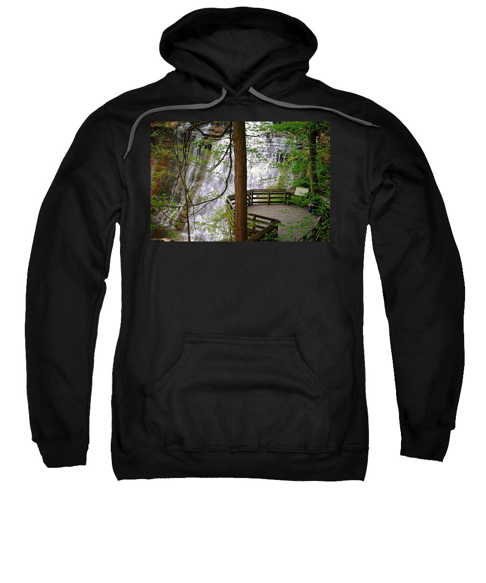 Waterfall Sweatshirt featuring the photograph Brandywine Falls by Frozen in Time Fine Art Photography
