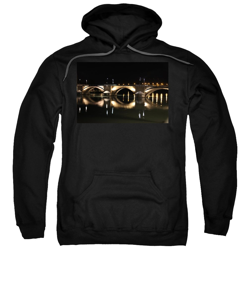 Bridge Sweatshirt featuring the photograph Bridge At Night by Francesco Scali