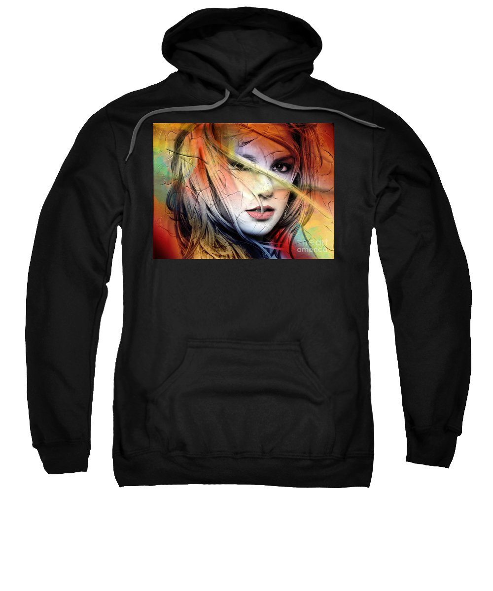 Britney Spears Sweatshirt featuring the painting Britney-Spears by Mark Ashkenazi