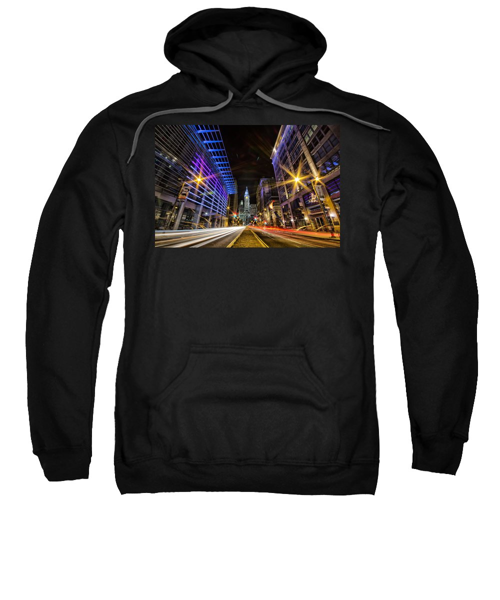 Pa Sweatshirt featuring the photograph Broad Street North by Raymond Skwire