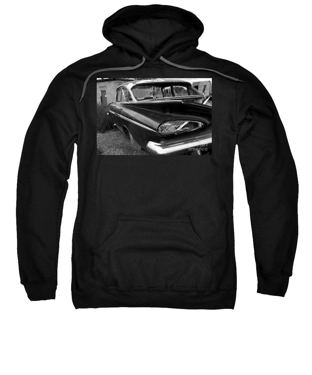 Car Sweatshirt featuring the photograph Broken Impala by Rick Pisio