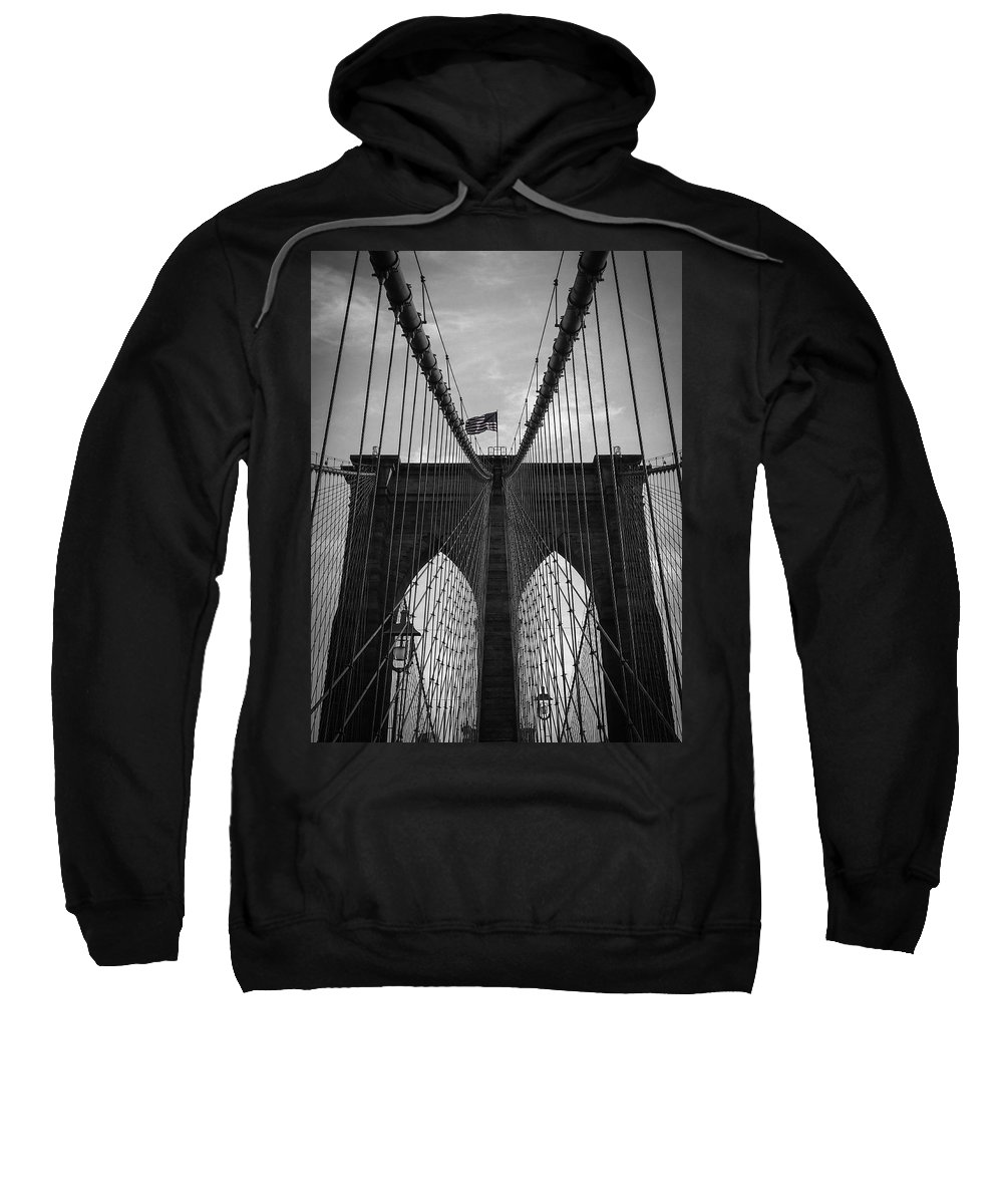 New York Sweatshirt featuring the photograph Brooklyn Bridge by Nicklas Gustafsson