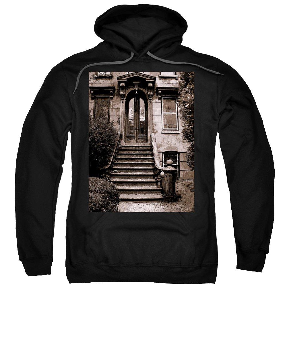 Brooklyn Sweatshirt featuring the photograph Brooklyn Stoop by Jeff Watts