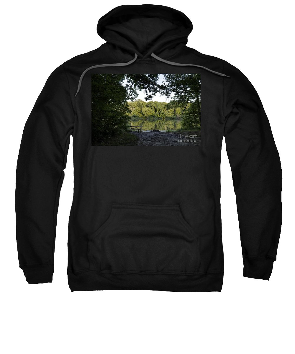 Backgrounds Sweatshirt featuring the photograph Brother's Fishin' Hole 20140719 by Alan Look