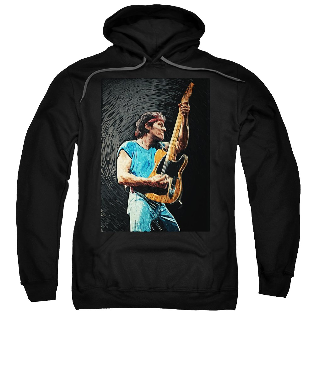 Bruce Springsteen Sweatshirt featuring the digital art Bruce Springsteen by Zapista Zapista