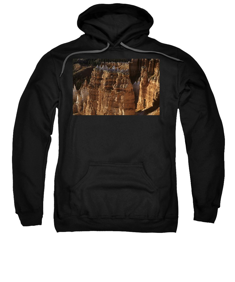Landscape Sweatshirt featuring the photograph Bryce Canyon National Park Hoodo Monoliths Sunset From Sunrise P by Jim Corwin