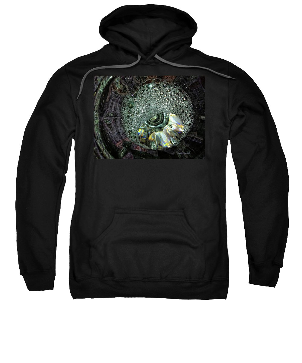 Water Sweatshirt featuring the photograph Bubble Trouble by Donna Blackhall