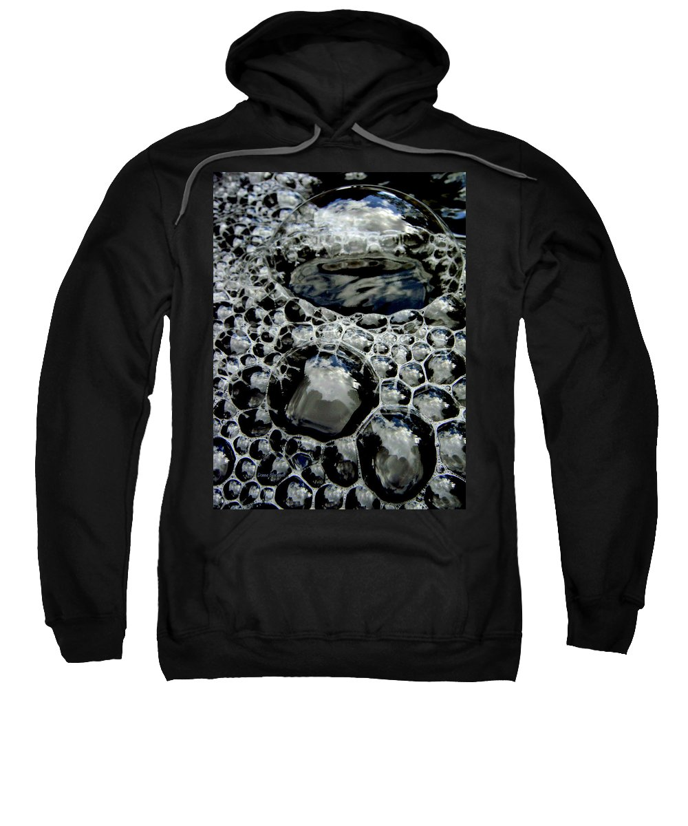 Bubble Sweatshirt featuring the photograph Bubblescape by Donna Blackhall