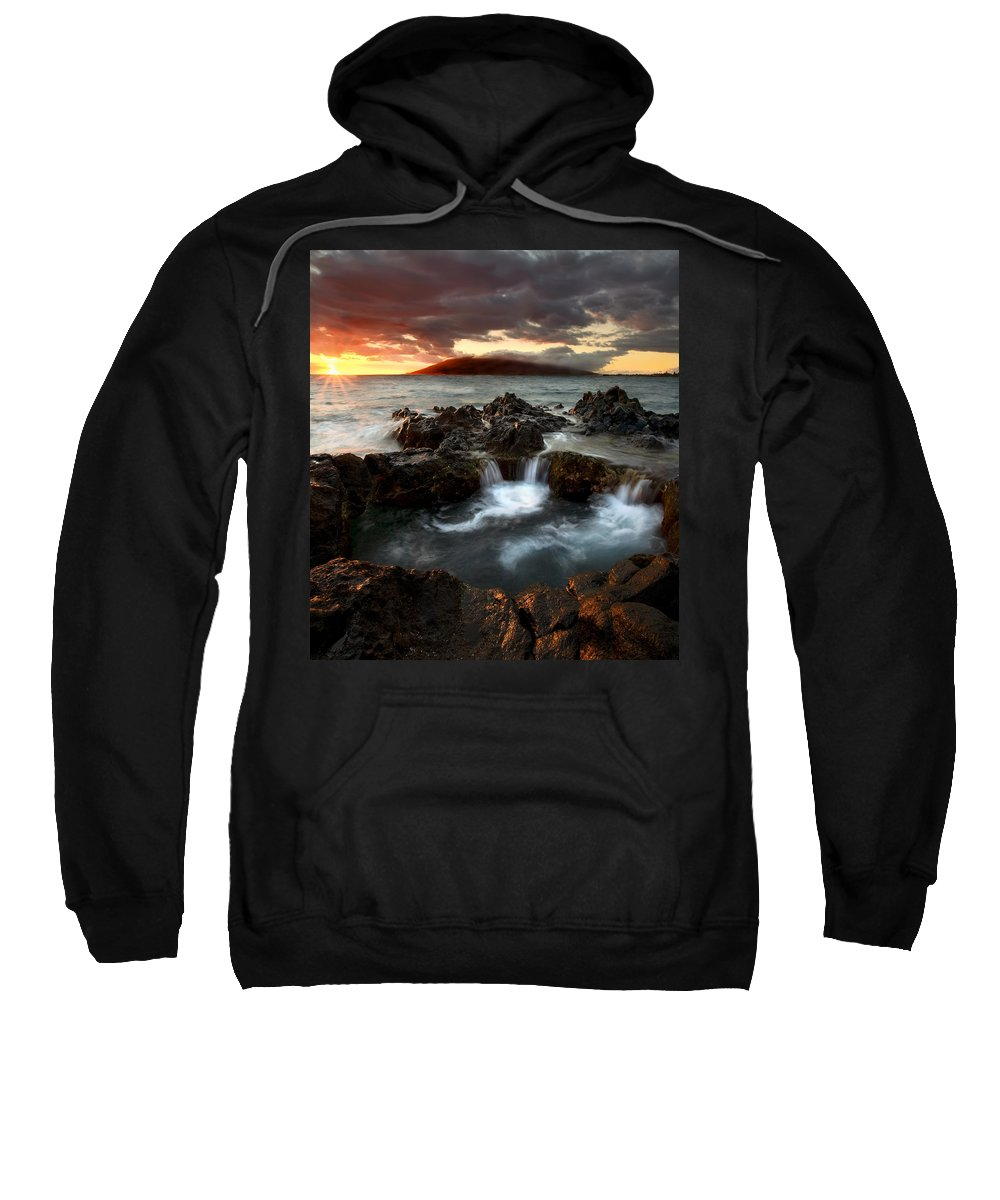 Sunset Sweatshirt featuring the photograph Bubbling Cauldron by Mike Dawson
