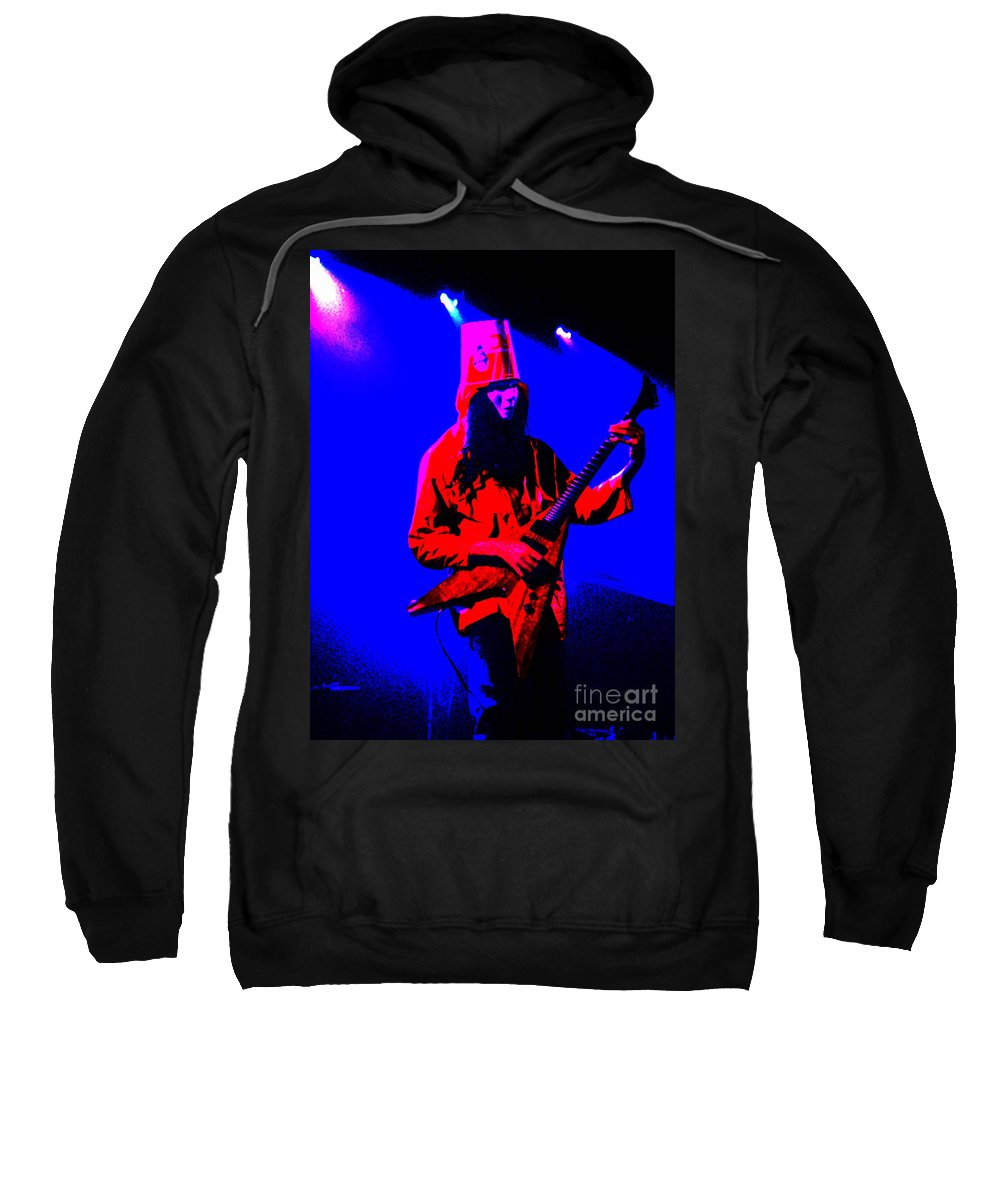 Buckethead Sweatshirt featuring the photograph Buckethead-12c-1 by Gary Gingrich Galleries