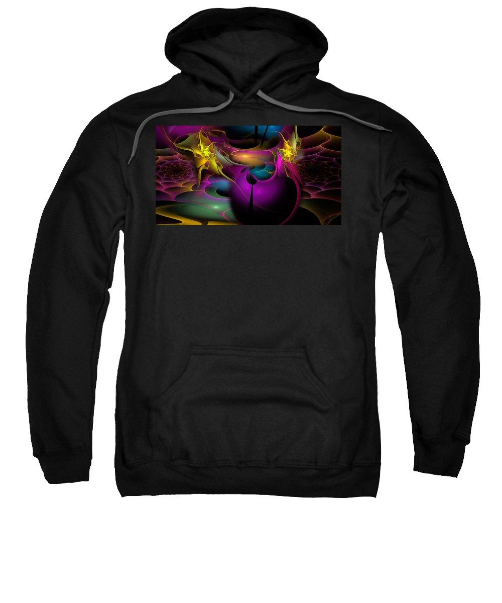 Phil Sadler Sweatshirt featuring the digital art Buggin' Ya by Phil Sadler