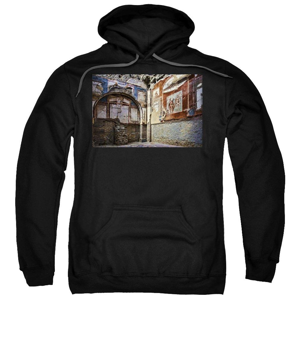 Archeology Sweatshirt featuring the photograph Building Interior by Maria Coulson