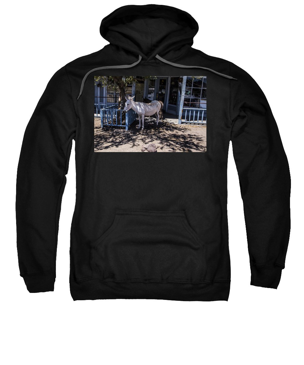 Route 66 Sweatshirt featuring the photograph Burro by Angus Hooper Iii