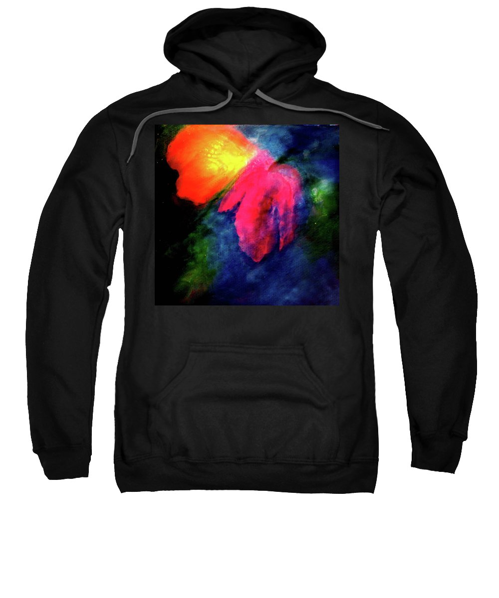 Butterfly Sweatshirt featuring the painting Butterfly Glow by Janice Nabors Raiteri