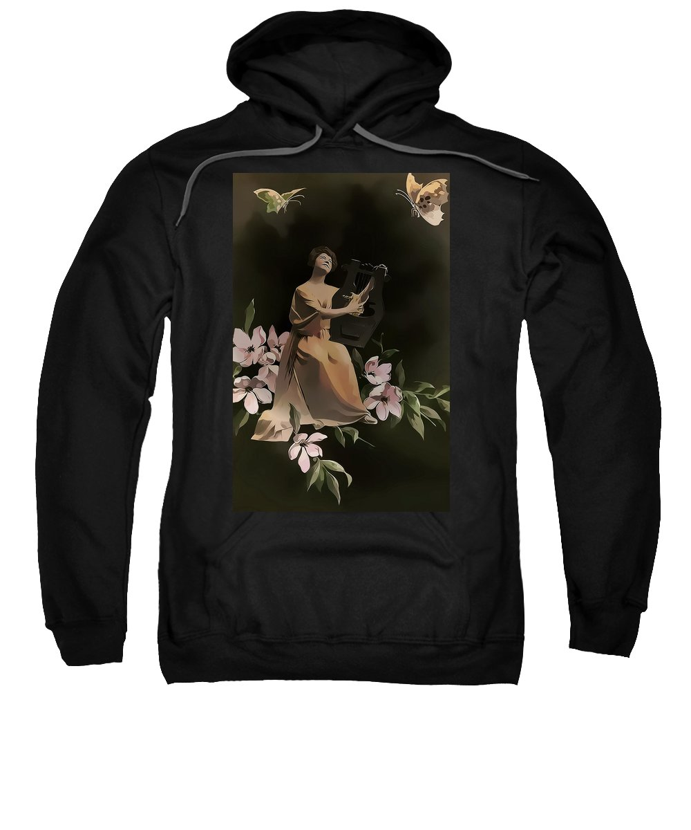 Vintage Sweatshirt featuring the photograph Butterfly Serenade Vintage Art by Lesa Fine