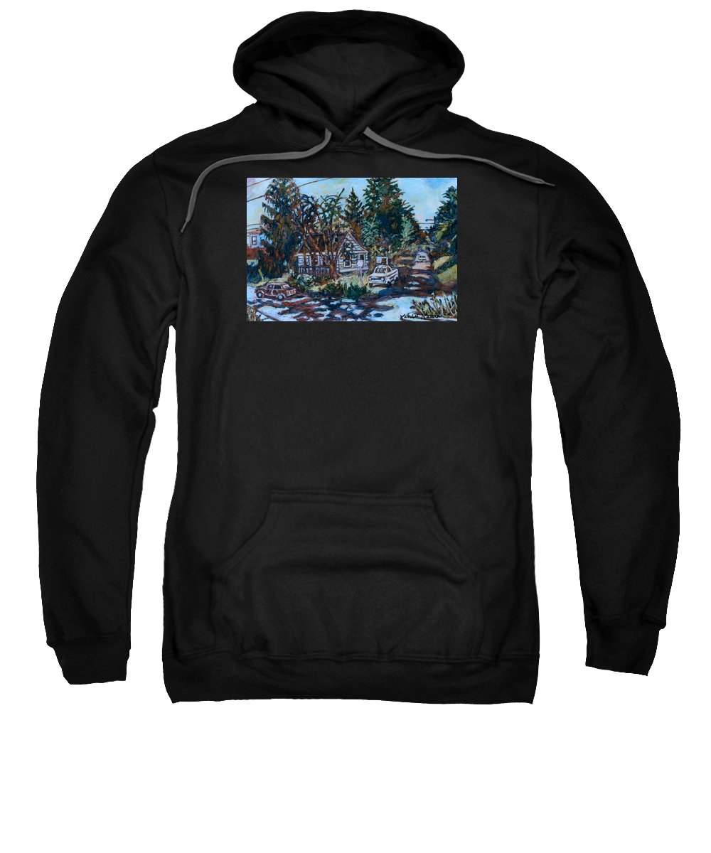 Town Sweatshirt featuring the painting Near Reeds by Kendall Kessler