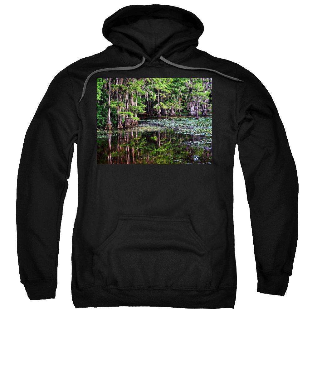 Caddo Dawn Sweatshirt featuring the photograph Caddo Dawn by Skip Hunt