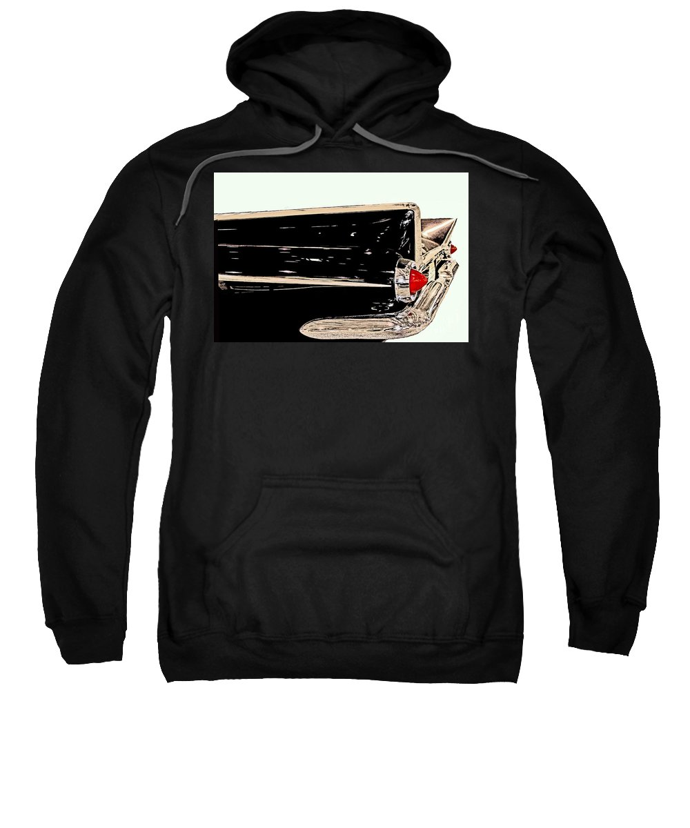 Collectible Sweatshirt featuring the photograph 1959 Buick Electra 225 Fins by Tom Gari Gallery-Three-Photography