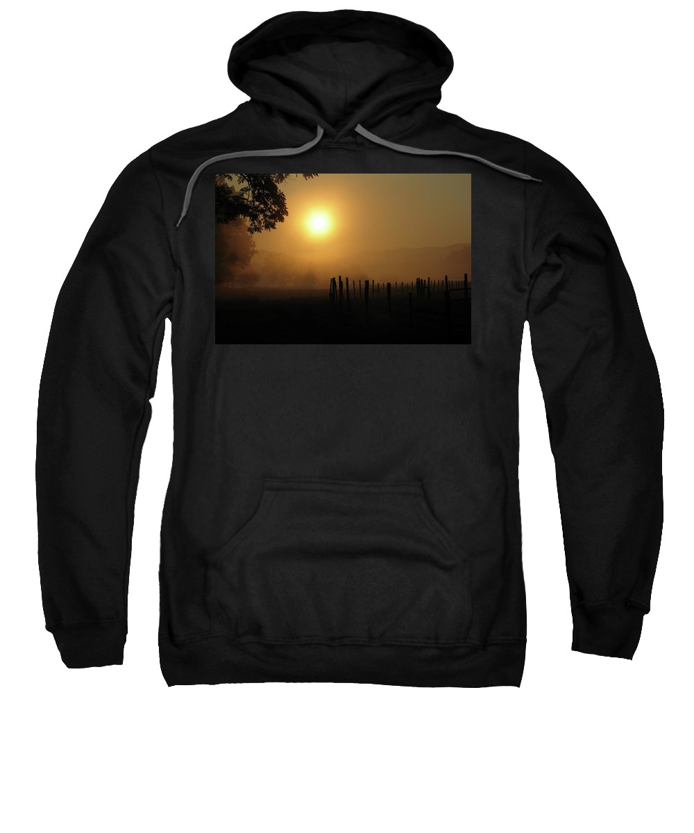 Sweatshirt featuring the photograph Cades Cove Sunrise IIi by Douglas Stucky