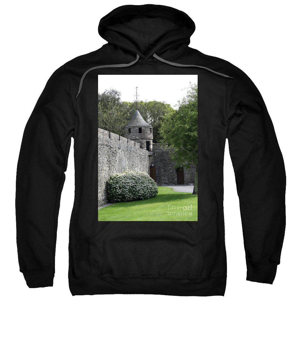 Cahir Castle Sweatshirt featuring the photograph Cahir Castle Wall And Tower by Christiane Schulze Art And Photography