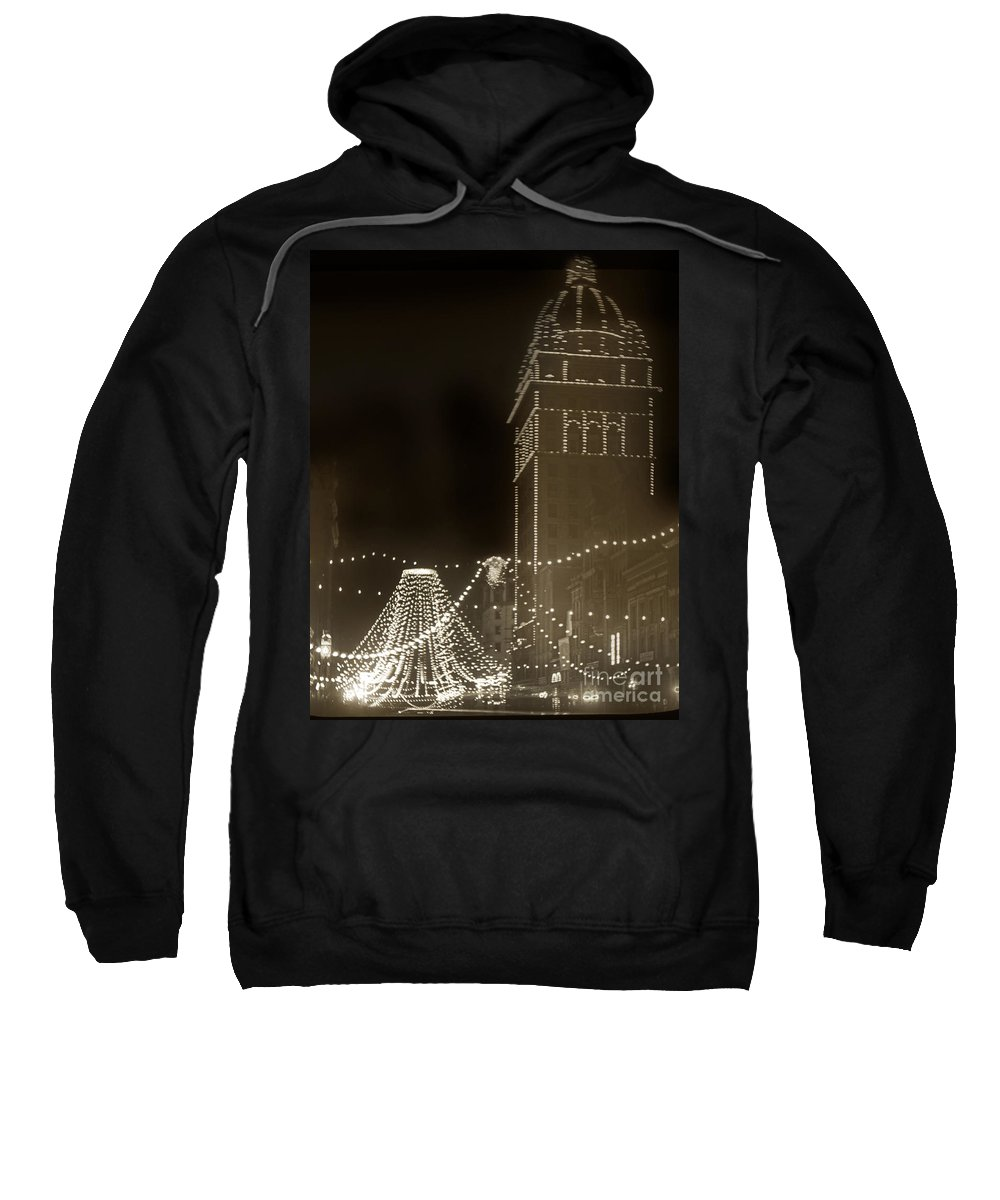 Call Building Sweatshirt featuring the photograph Call Building On Market Street San Francisco California 1902 by California Views Archives Mr Pat Hathaway Archives