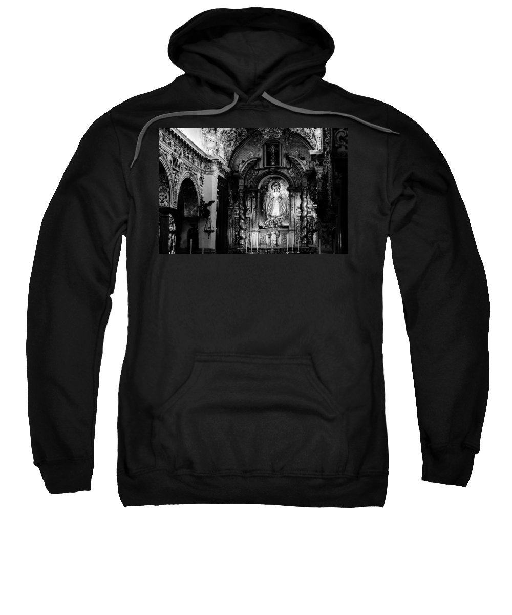 Seville Sweatshirt featuring the photograph Call Of God Bw by Andrea Mazzocchetti