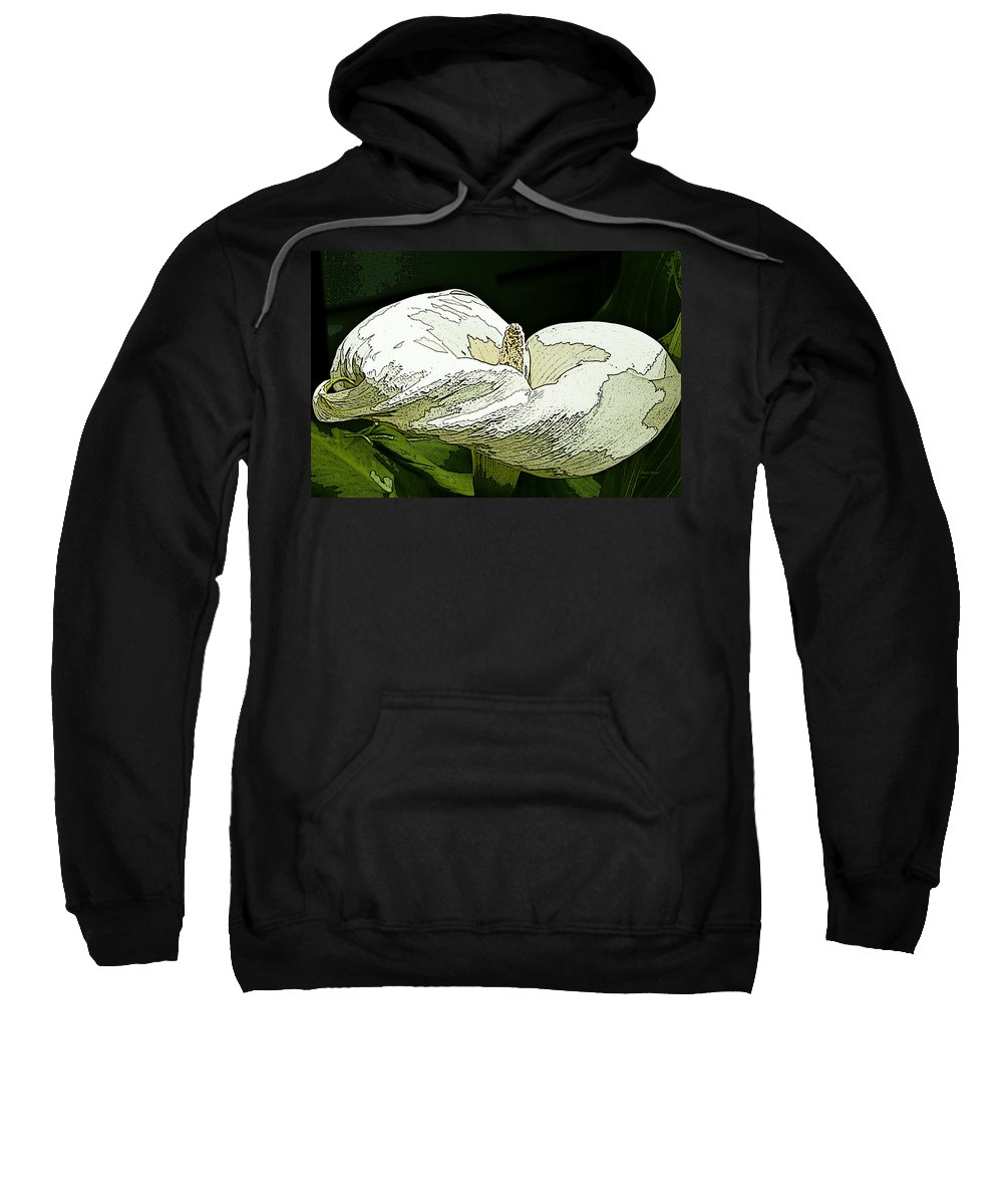 Calla Lily Sweatshirt featuring the photograph Calla Lily Sketch by Phyllis Denton