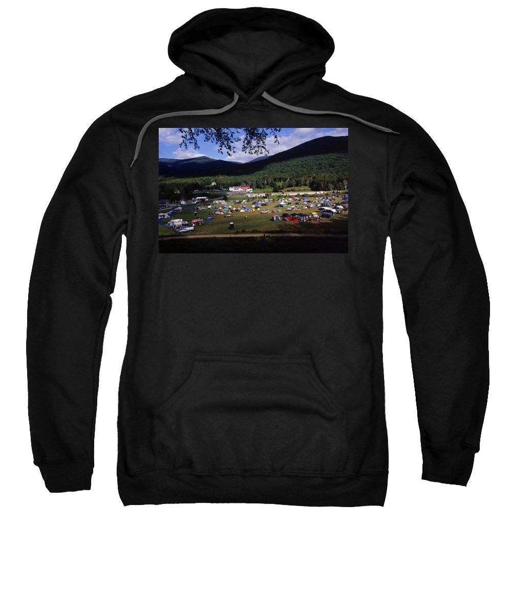 Biking Sweatshirt featuring the photograph Camping by David McLain