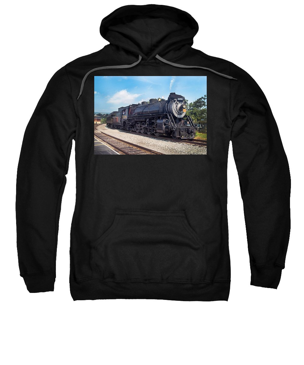 Railroad Sweatshirt featuring the photograph Canadian National 3254 by Paul W Faust - Impressions of Light
