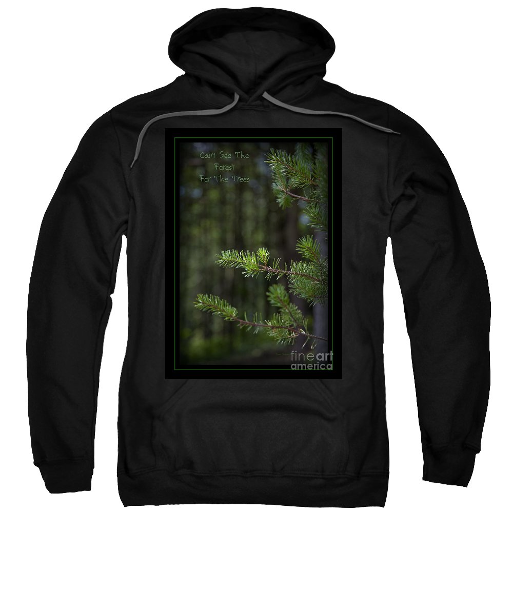 Forest Sweatshirt featuring the photograph Can't See The Forest For The Trees by John Stephens