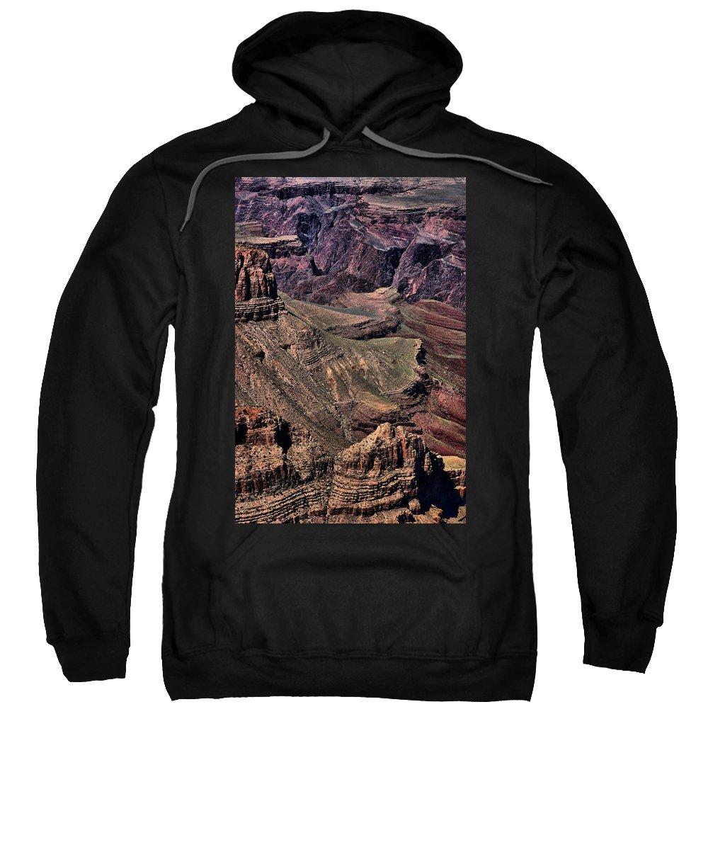 Grand Canyon Sweatshirt featuring the photograph Canyon Walls by Robert McCubbin