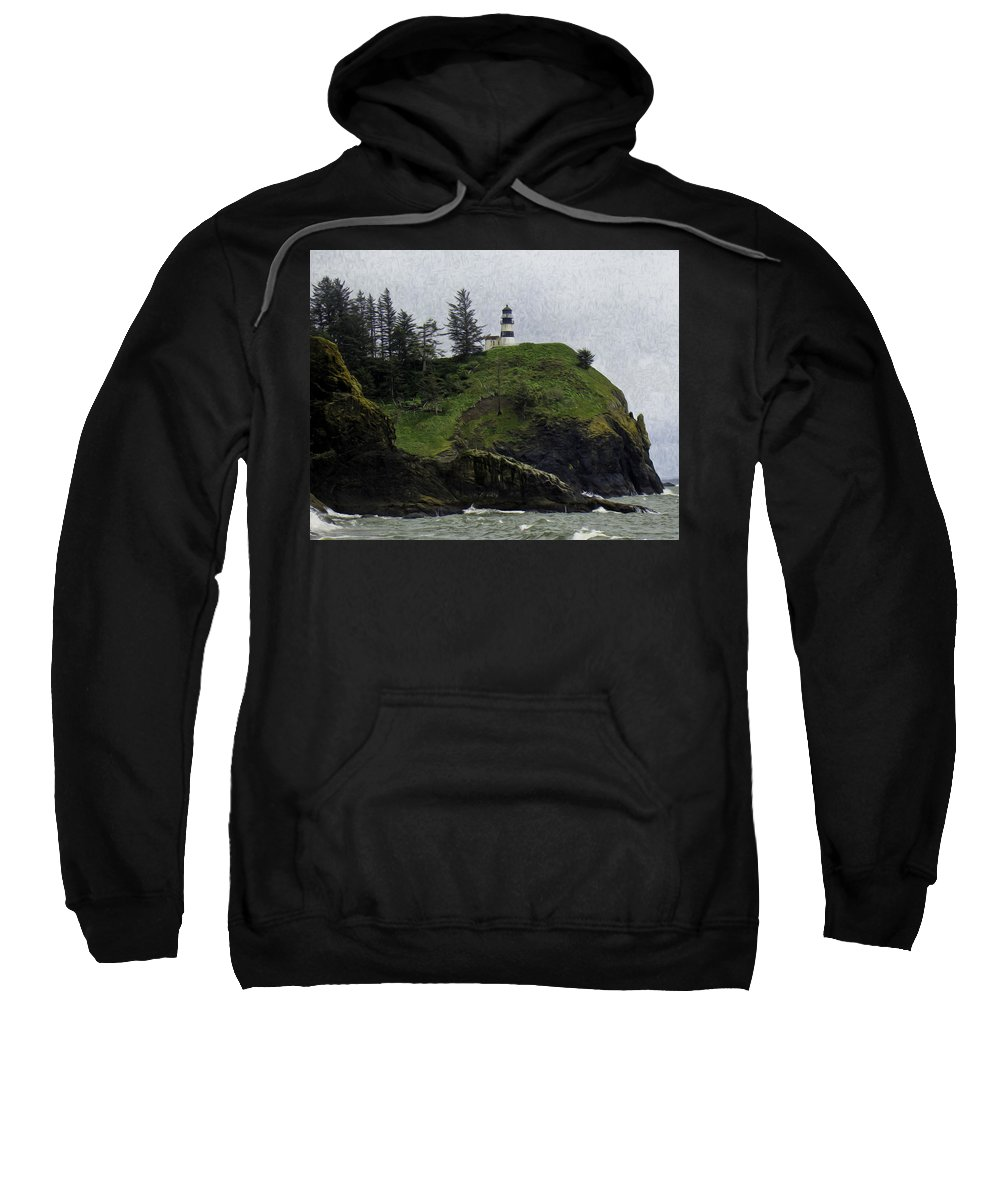 Cape Sweatshirt featuring the photograph Cape Disappointment by James Ekstrom