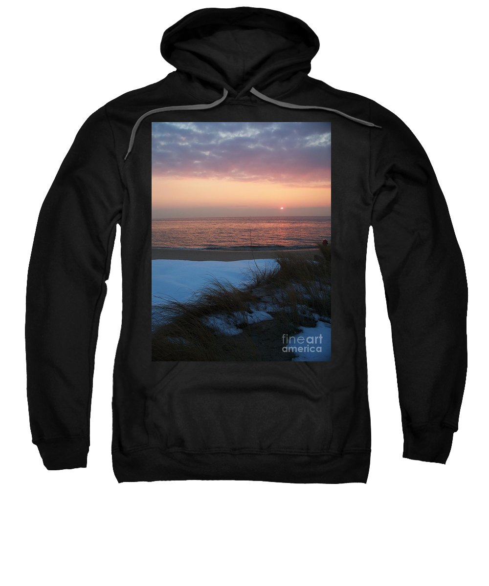 Cape May Sweatshirt featuring the photograph Cape May Twilight In February by Eric Schiabor