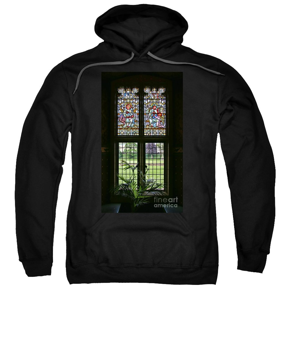 Cardiff Castle Sweatshirt featuring the photograph Cardiff Castle Window 8355 by Jack Schultz